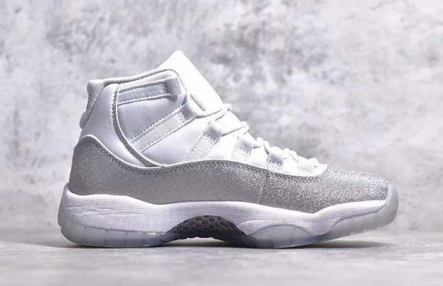 "Air Jordan 11 "" Metallic Silver "" 满天星"